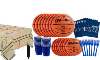 Utah Jazz Basic Party Kit 16 Guests
