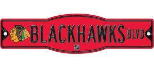 Chicago Blackhawks Street Sign