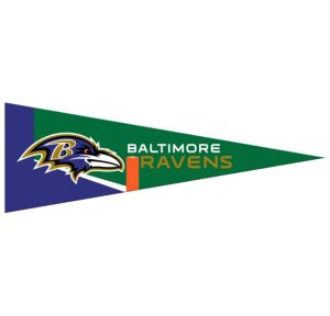 Small Baltimore Ravens Pennant Flag