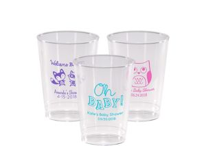 Personalized Baby Shower Hard Plastic Cups 10oz