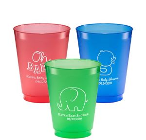 Personalized Baby Shower Plastic Shatterproof Cups 16oz