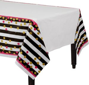 Pink & Gold Confetti Table Cover