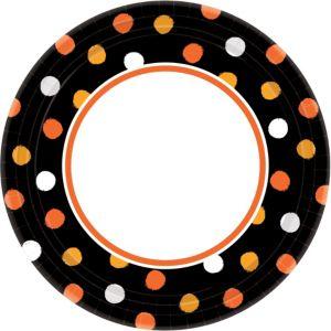 Polka Dot Halloween Dinner Plates 40ct