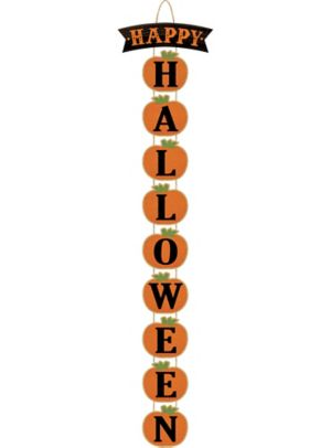 Happy Halloween Stacked Pumpkin Sign