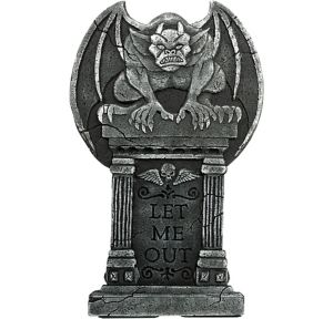 Gargoyle Let Me Out Tombstone
