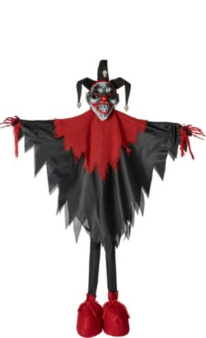 Giant Standing Evil Jester Decoration