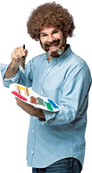 Adult Bob Ross Costume Accessory Kit
