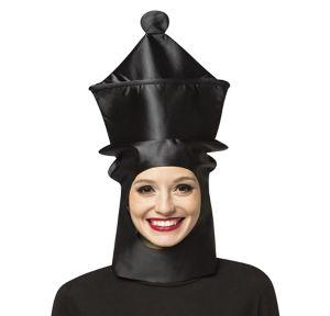 Adult Black Queen Chess Piece Hat