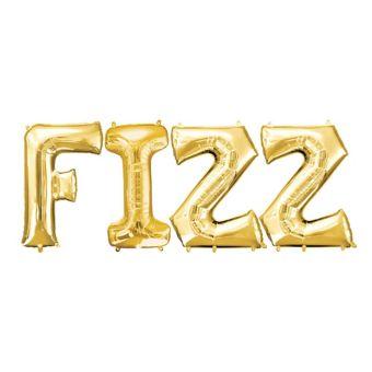 Giant Gold Fizz Letter Balloon Kit 4pc