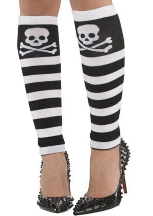 Adult Skull & Crossbones Leg Warmers