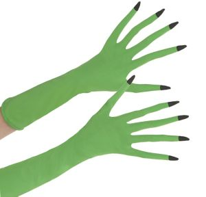 Adult Green Witch Gloves