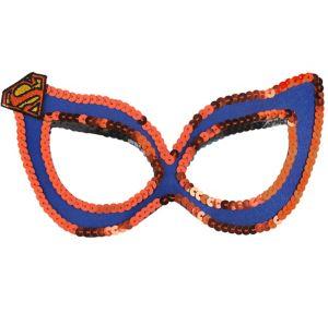 Child Sequin Supergirl Mask - Superman