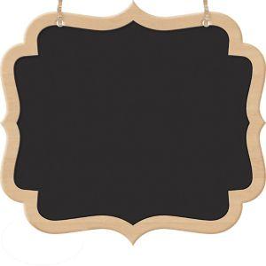 Scroll Chalkboard Wood Signs 2ct