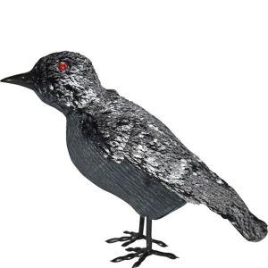 Black & Silver Crow Decoration