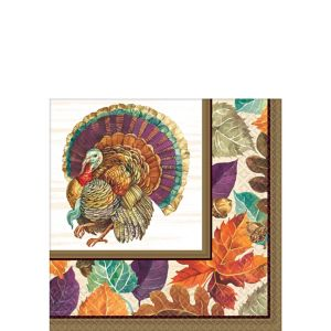 Traditional Thanksgiving Beverage Napkins 16ct