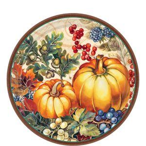 Warm Harvest Dessert Plates 8ct