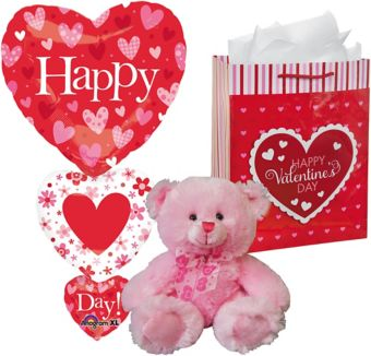Pink Bear Plush Valentine's Day Gift Kit