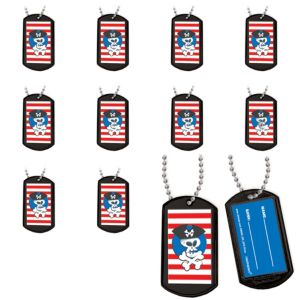 Pirate Dog Tag Necklaces 24ct