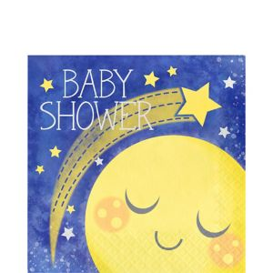 Moon & Stars Baby Shower Lunch Napkins 16ct