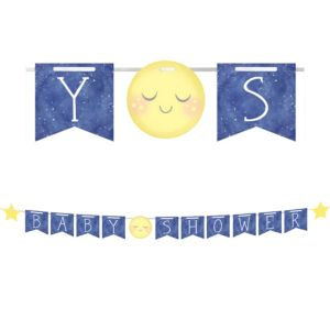 Moon & Stars Baby Shower Pennant Banner