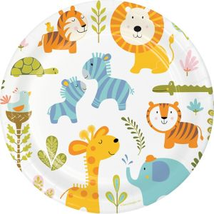 Happy Jungle Lunch Plates 8ct