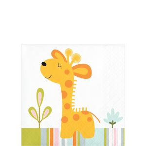 Happy Jungle Beverage Napkins 16ct