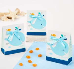 Blue Baby Whale Favor Boxes 8ct