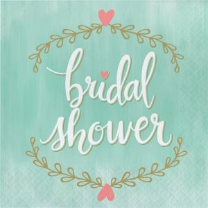 Mint to Be Bridal Shower Lunch Napkins 16ct