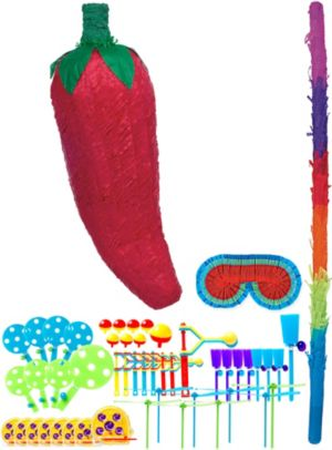 Chili Pepper Pinata Kit with Favors