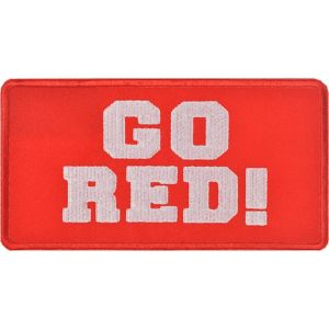 Go Red Iron-On Patch