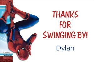 Custom Spider-Man Homecoming Thank You Note