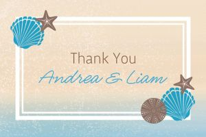 Custom Seashell Beach Thank You Note