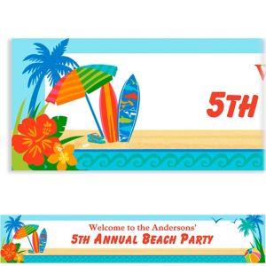 Custom Sun and Surf Beach Banner