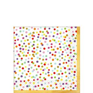 Rainbow Confetti Beverage Napkins 36ct