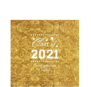Personalized Graduation Embossed Damask Lunch Napkins