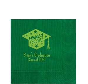 Personalized Graduation Moire Lunch Napkins