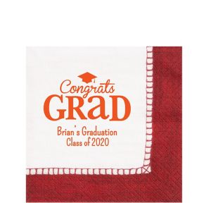 Personalized Graduation Bordered Lunch Napkins