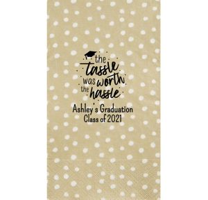 Personalized Graduation Small Dots Guest Towels