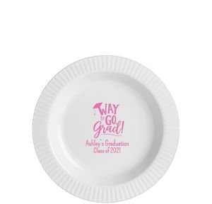 Personalized Graduation Premium Plastic Dessert Plates