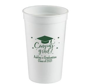 Personalized Graduation Plastic Stadium Cups 22oz