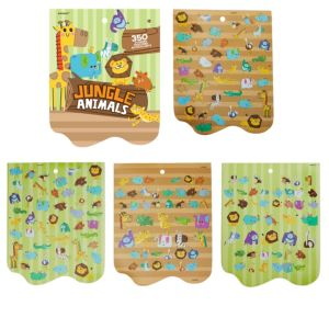 Jumbo Jungle Animal Sticker Book 8 Sheets
