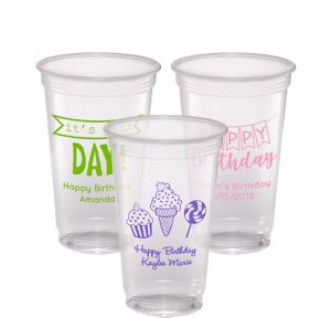 Personalized Birthday Plastic Party Cups 20oz