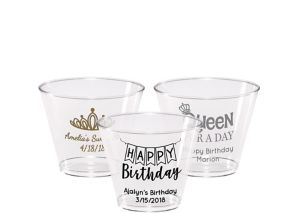 Personalized Birthday Hard Plastic Cups 9oz