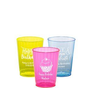 Personalized Birthday Neon Hard Plastic Cups 10oz