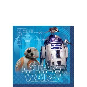 Star Wars 8 The Last Jedi Beverage Napkins 16ct