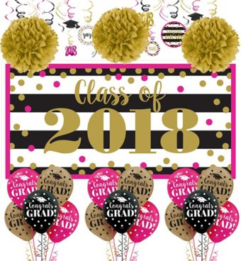 Confetti Graduation Decorating Kit with Balloons