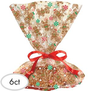 Gingerbread Christmas Treat Tray Bags 6ct