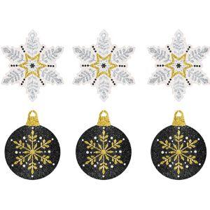 Glitter Christmas Gift Tags 12ct