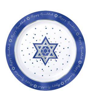 Happy Hanukkah Premium Plastic Dessert Plates 20ct