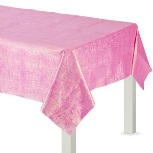 Bright Pink Opalescent Table Cover
